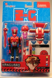 Z-C Interactive 5 inch figure - Vanguard (red) Atomoton, Atom0ton, Action Figures, 2001, scifi, game