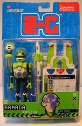 Z-C Interactive 5 inch figure - Armada (green) Atomoton, Atom0ton, Action Figures, 2001, scifi, game