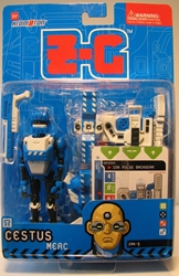 Z-C Interactive 5 inch figure - Cestus (blue) Atomoton, Atom0ton, Action Figures, 2001, scifi, game