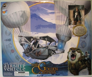 Golden Compass Airship Vehicle with Lee Figure  Corgy, Golden Compass, Action Figures, 2008, fantasy, movie