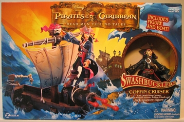 Pirates of Caribbean Anim Boxed Jack + Coffin Cruiser