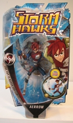 Storm Hawks 6 inch Aerrow figure with bonus DVD Spin Master, Storm Hawks, Action Figures, 2007, scifi, cartoon
