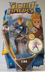 Storm Hawks 6 inch Finn figure with bonus DVD Spin Master, Storm Hawks, Action Figures, 2007, scifi, cartoon