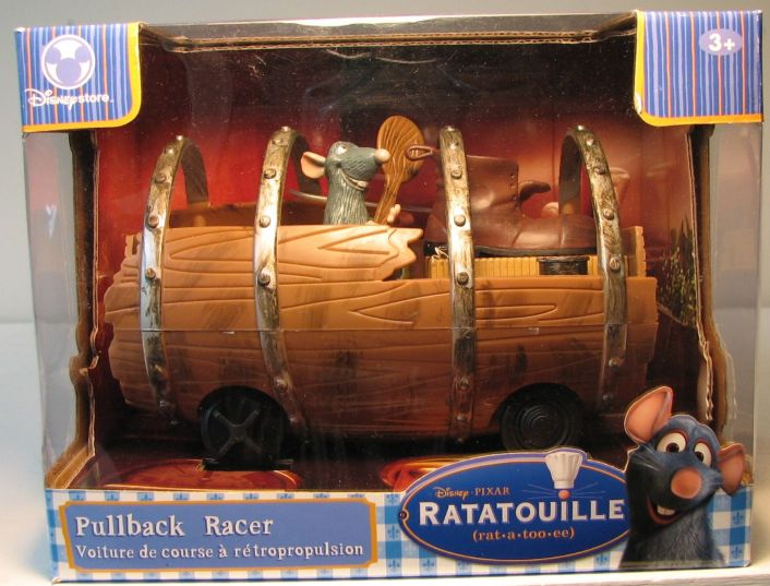 Disney Ratatouille Remy in Barrel with Pullback action Disney Pixar, Ratatouille, Action Figures, 2007, animated, movie