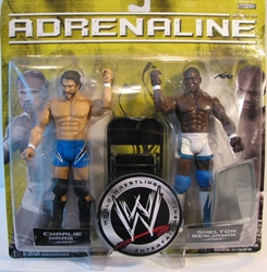 WWE Adrenaline 29 Charlie Haas + Shelton 7 inch figs Jakks, WWE, Action Figures, 2007, wrestling, tv show