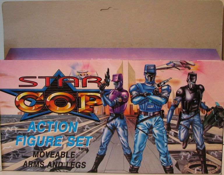 Star Cops Set of 6 inch figures: 2 cops + 2 aliens - 5265-678CCCGGG