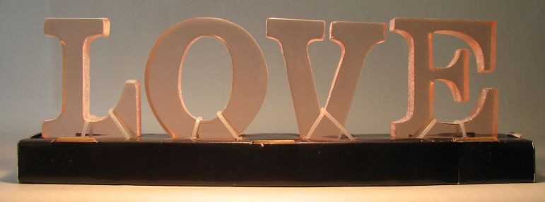 Clear acrylic LOVE Letters 3.5 inch high Target, Valentines, Decor, 2009