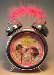High School Musical Alarm Clock w pink fuzzy handle Disney, High School Musical, Clocks, 2008, teen, tv show